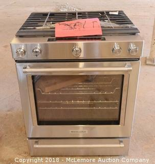 KitchenAid 5 Burner Slide-In Gas Range