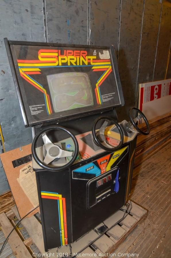 Mclemore Auction Company Auction Surplus Equipment Tools Lumber Arcade Game Home Decor And Two Ford Trucksfrom 5 String Custom Furniture And Fabrication Item Super Sprint Arcade Game