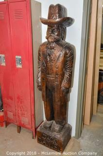 Hand Carved Statue of Jack Daniel