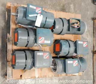 Pallet of 6 Electric Motors and Reducer Gear Boxes