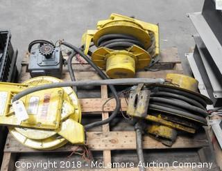 3 Aero-Motive Model 4020 Cable Reels