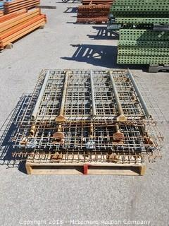8 Pallet Racking Wire Decks with Double Waterfall