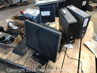 Pallet of Computers, Laptops, Monitor, Peripherals and Electrical Disconnect