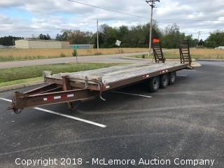 24' Tri-Axle Trailer with Pintle Hitch - Note: Bill of Sale Only - No Title - call (615) 509-2428 for location info