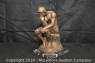 """Reproduction Sculpture of """"The Thinker"""""""