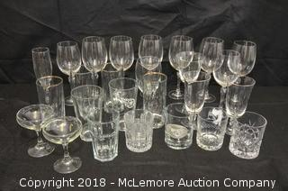 Assorted Wine and Drinking Glasses
