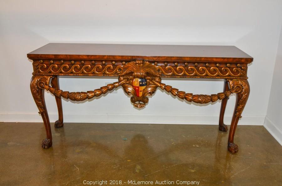Ornate Wood Console From Northgate Gallery. U2039u203a