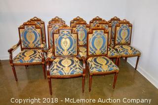 (12) Hand Crafted Italian Dining Chairs by Stephano Jiovanni
