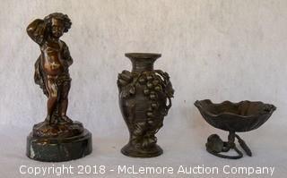 Three Bronze Metal Pieces