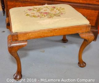 Antique Hand Stitched Vanity Seat