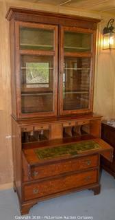 Antique Secretary Desk with Hutch Bookcase