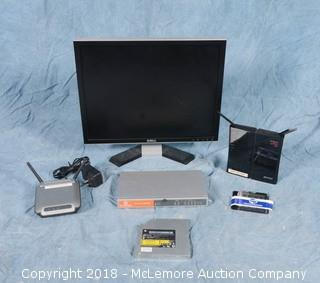 Assortment of Computer Components and IBM ThinkPad Laptop