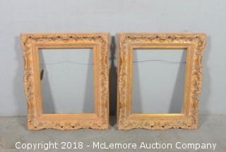 (2) Ornate Painted Wood Frames