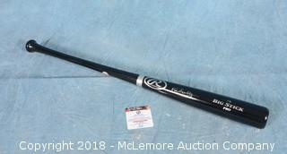 Rawlings Big Stick Pro Baseball Bat Signed by Vin Scully