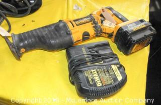 Dewalt 24 Volt Cordless Reciprocating Saw with Charger and Battery