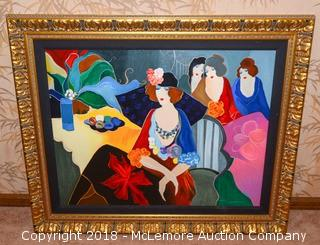 """""""Four After the Party II"""" Embellished Serigraph by Itzchak Tarkey"""