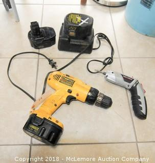 Dewalt 14.4V DW954 Cordless Drill with Charger and Task Force Driver