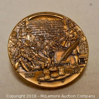 1787-1987 Bronze Medallion