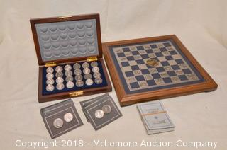 The Civil War Checkers Set by The Franklin Mint