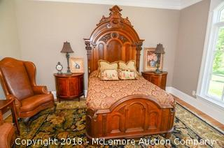 Victorian Custom Queen Bed Frame