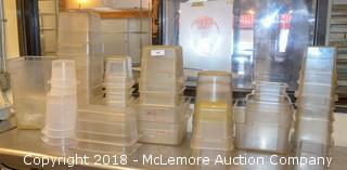Assortment of Commercial Storage Containers