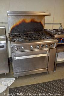 Imperial Six Burner Gas Range and Oven