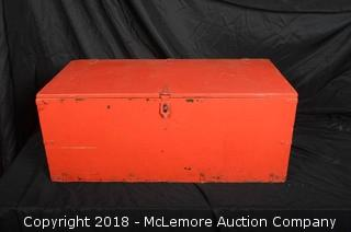 Painted Military Trunk