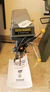 """Central Machinery 8"""" Bench Top Drill Press Model 44506"""