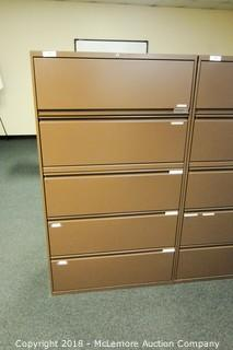 Metal 5 Drawer Lateral File Cabinet
