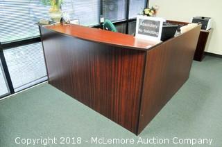 Wooden Front Reception Desk Station