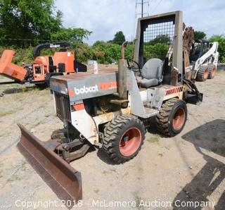 """Bobcat 3023 Ride On Trencher with 5' Trencher and 5'9"""" Front Blade"""