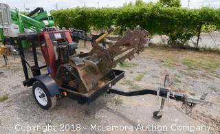 Toro TRX-15 Track 3' Blade Trencher with Trailer