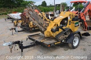 Vermeer RTX250 Track Trencher with Trailer