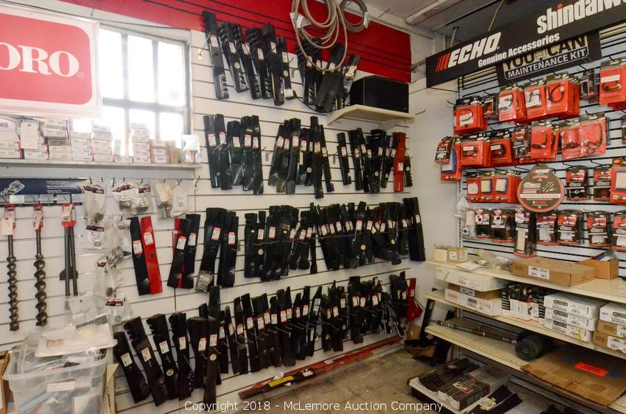 Nutter Equipment Business Liquidation of Heavy Equipment, Toro Mowers, Tools, Parts, Supplies and Shelving