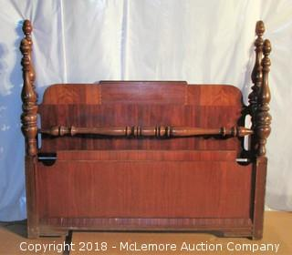 4 Post Full Size Vintage Headboard and Footboard for Bed