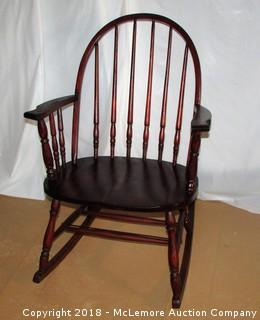 Antique Amish Spindle Rocking Chair