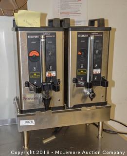 (2) Coffee Dispensers & Heat Tray by Bunn