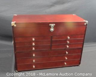9 Drawer Cherry Wood Mechanics Tool Box