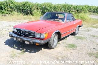 1977 Mercedes 450SL Convertible and Hardtop with a 4.5L V8 Engine