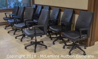 (10) Leather Office Chairs by Sit on it Seating