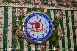 Neon Pontiac Clock