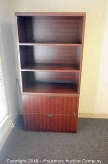 LaCasse 2 Drawer Lateral File Cabinet with Upper Bookcase