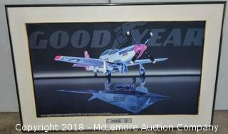 """""""Phase II"""" Framed Print of P-51 Mustang and F117 Stealth"""