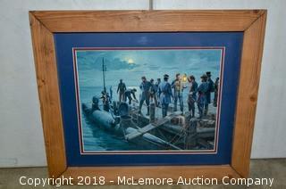 Framed Print of Civil War Submarine