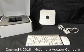 Apple MacMini Model A1347 EMC 2840 with Keyboard and Mouse
