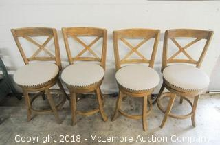 4 Matching Swivel Stools