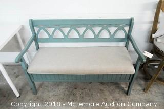 Bench with Cushion Seat with Under Seat Storage