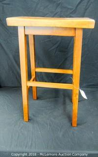 Wooden Counter Height Stool