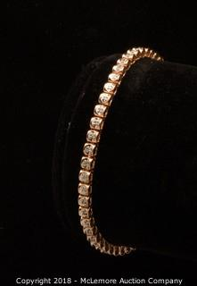 10K Rose Gold Diamond Tennis Bracelet