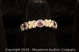 Barbara Bixby Pink Tourmaline Flower Ring